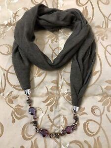 nuovo stile 25d04 a3bd4 Dettagli su Sciarpa Gioiello Anello Collana Particolare Accessori Donna  Ragazza Affare