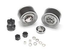 Boom Racing 1.55 Yota LC Classic Rear Beadlock Wheels Gun Metal BRW780907RGM