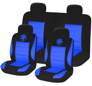 8pc-Universal-Car-Seat-Covers-Set-Protectors-Washable-Dog-Pet-Front-Rear-Blue