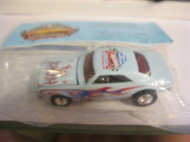 Hot Wheels 67 Camaro blu boletín 2007 Dearborn nacionales Menta en paquete