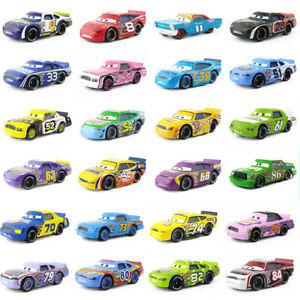 Disney-Pixar-Cars-Racers-No-4-No-123-1-55-Loose-Metal-Model-Toy-Car-Kids-Boys