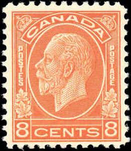Mint-NH-Canada-1932-F-Scott-200-8c-King-George-V-Medallion-Stamp