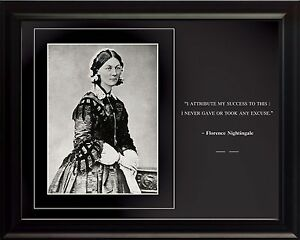 Florence-Nightingale-Photo-Picture-Poster-or-Framed-Famous-Quote-034-I-attribute-034