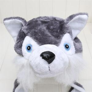 f4c9c3b5f0e Animal Style Cartoon Wolf Hat Cute Fluffy Kids Cap Soft Warm Earmuff ...