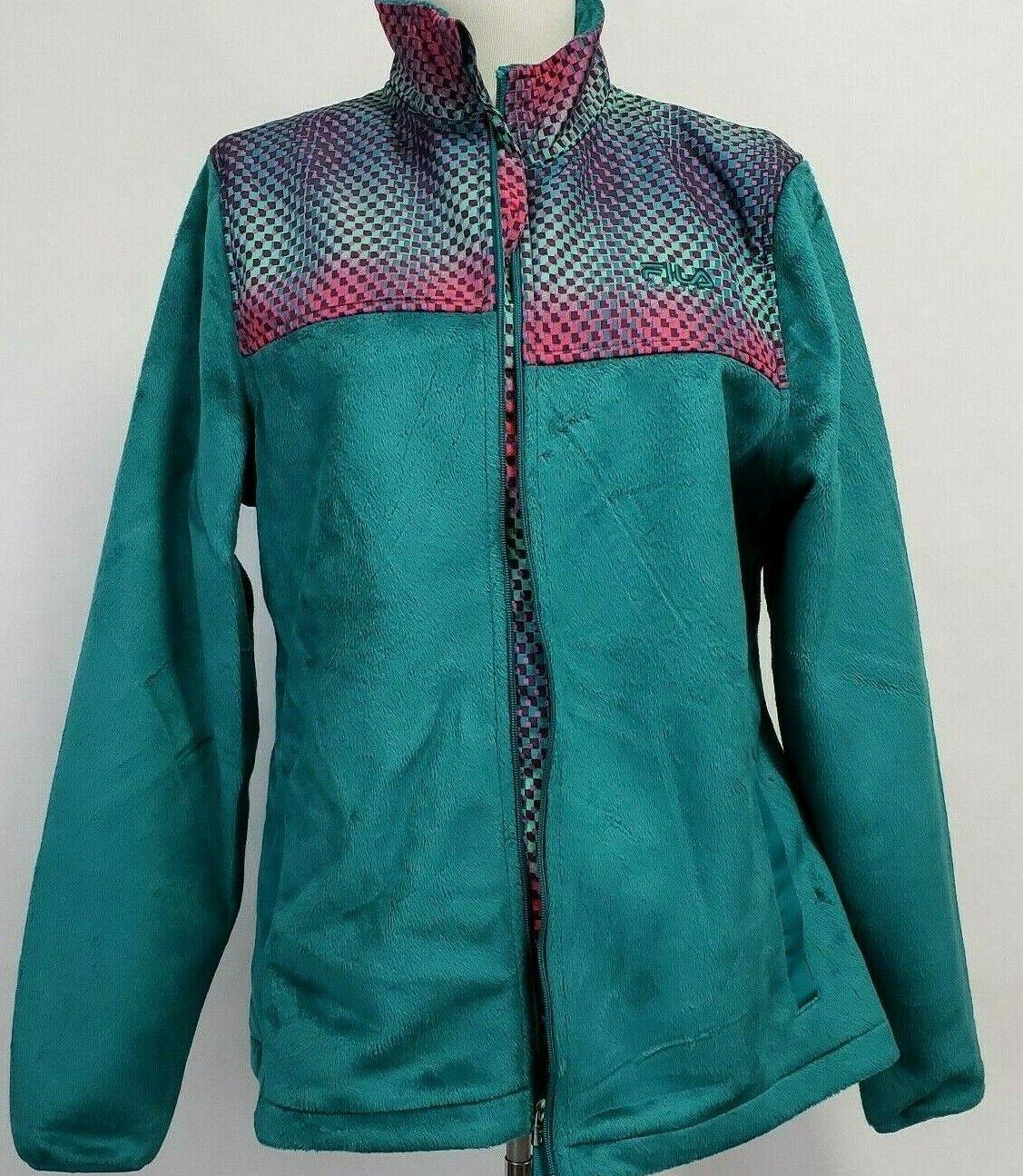Fila Sport Womens Medium Zip up Fleece Track Jack… - image 2