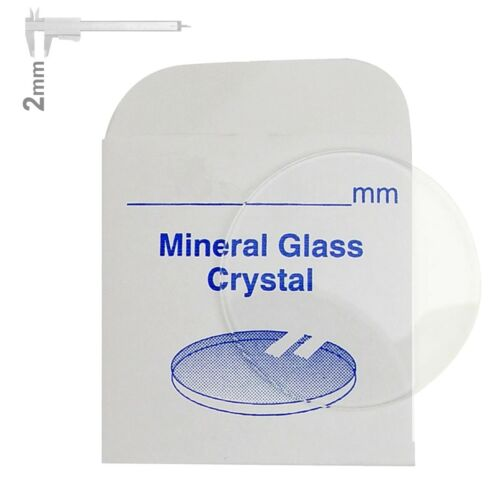 Großes Set 2mm starke Mineralgläser für Uhren 30-40mm CRY2