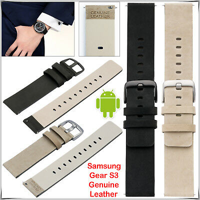 Genuine Leather Wrist Band Strap For Samsung Gear S3 22mm 2018 Galaxy Watch 22mm QualitäTswaren