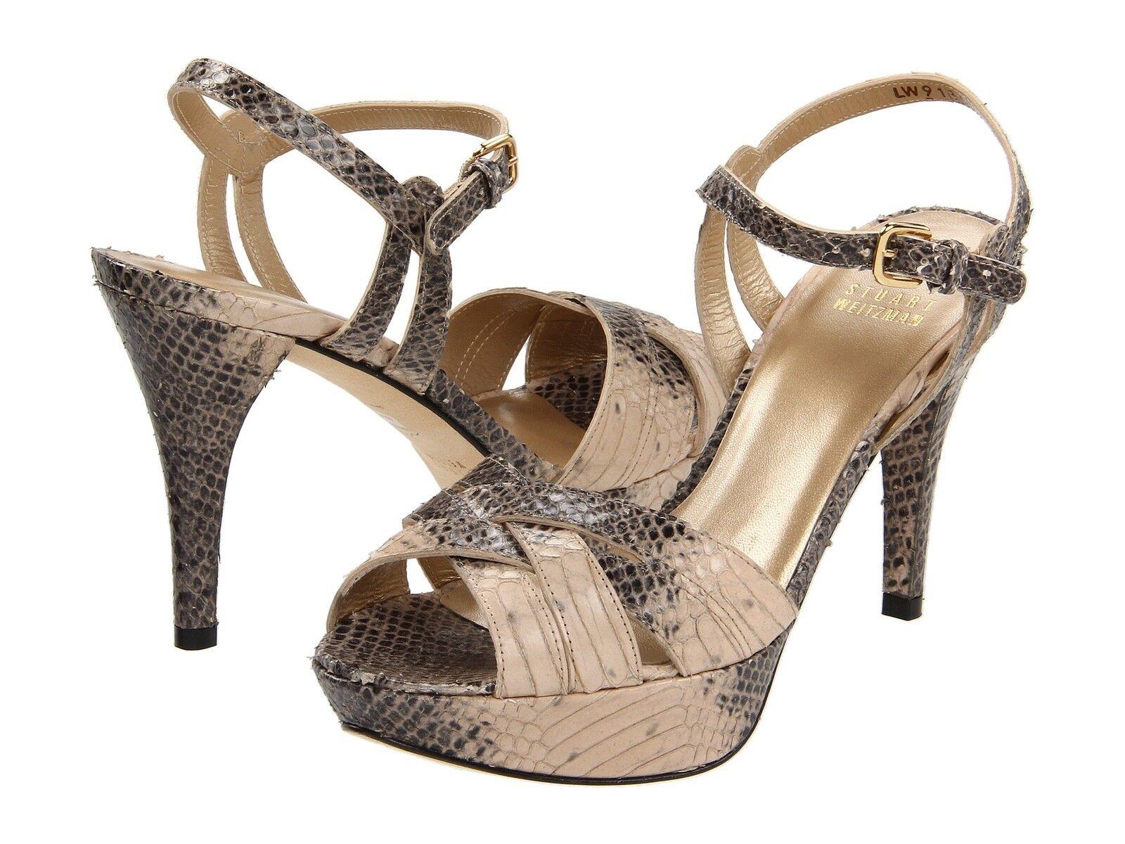 395 Stuart Weitzman Loopthru Peep Toe Pumps Platform Sandale Schuhes 9 Slingback