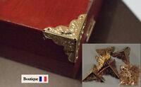 Lot 12 Coin Protection Angle Fer Laitonne Coffre Malle Boite A Bijoux Clous