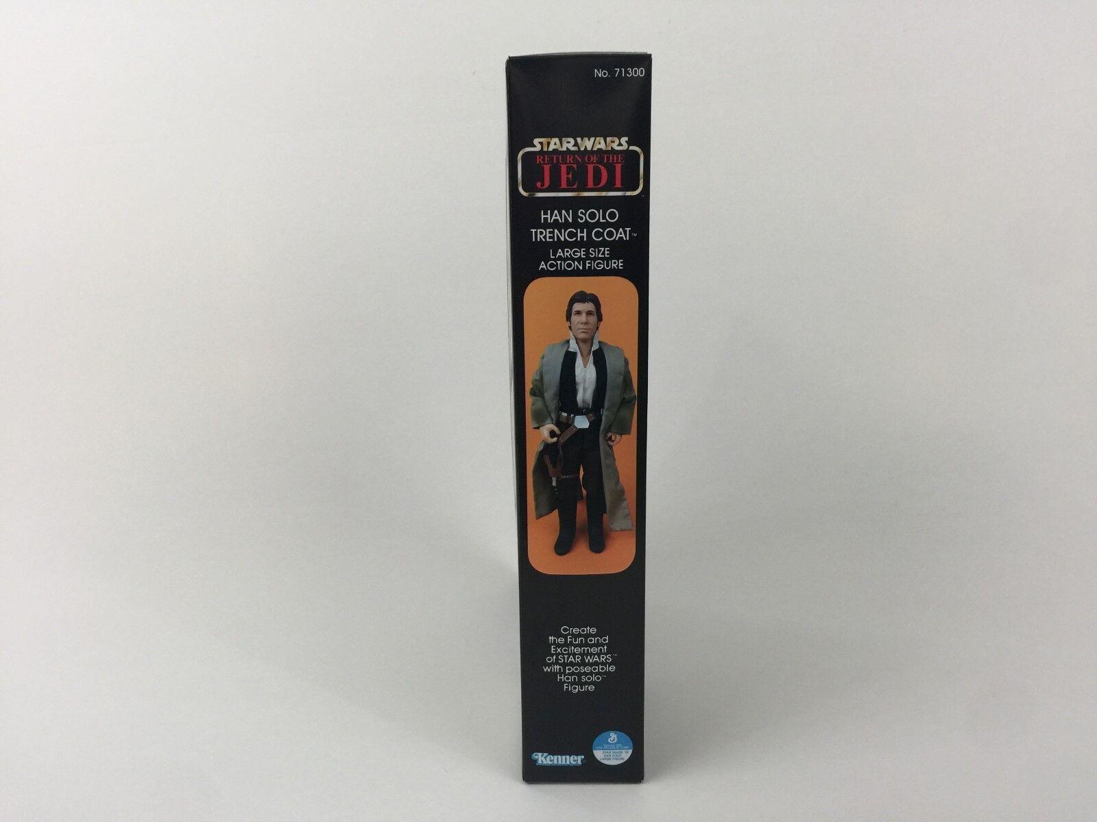 Custom vintage Star wars rotj 12 12 12  han solo trench coat box + inserts modern ver a4901f
