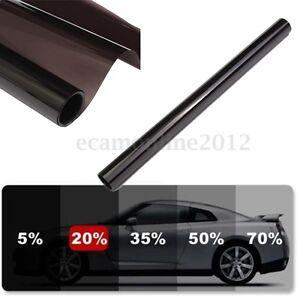 6m 50cm film teinte solaire noir autocollant vitre fen tre voiture batiment 20 ebay. Black Bedroom Furniture Sets. Home Design Ideas