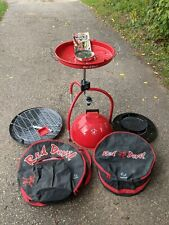 Vintage 1990 Red Devil Portable Outdoor Kitchen Grill Bbq Cooker Never Used