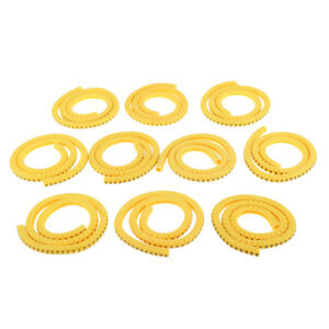 1000x Yellow Cable Marker Identification Labels Tags Managment NO 0~9 2.5mm²