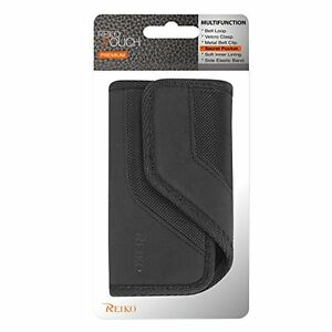 Reiko-Horizontal-Rugged-Pouch-Carrying-Case-for-Samsung-Galaxy-S6-Edge-Black