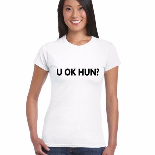 LADY FITTED T SHIRT LOVE slogan funny tee girl woman ladies YOU okay U OK HUN