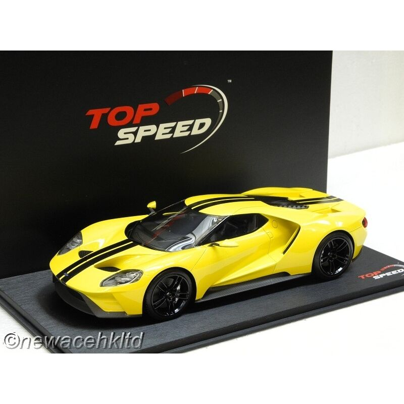 Ford GT 2015 Los Angeles  Auto Show triple jaune TOP SPEED MODEL 1 18  TS0029  bonnes offres
