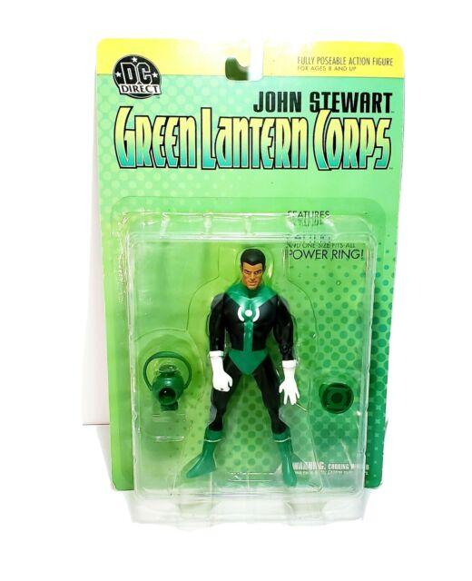 DC Direct John Stewart Green Lantern Corps Poseable Action Figure Comics Hero