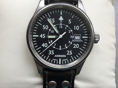 Junkers 6258/785 Military Swiss Made ETA 2824-2 25 Jewels Automatic Mens Watch