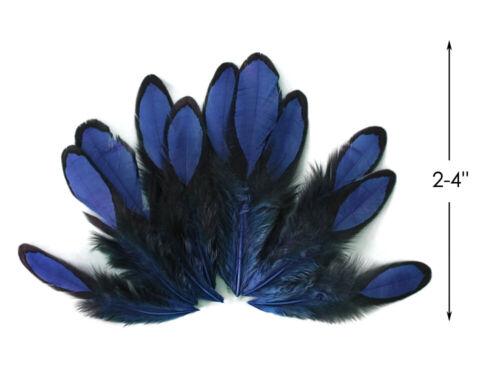 1 docena-Azul Marino Plumas Whiting Farms Cordones gallina silla para moscas Halloween