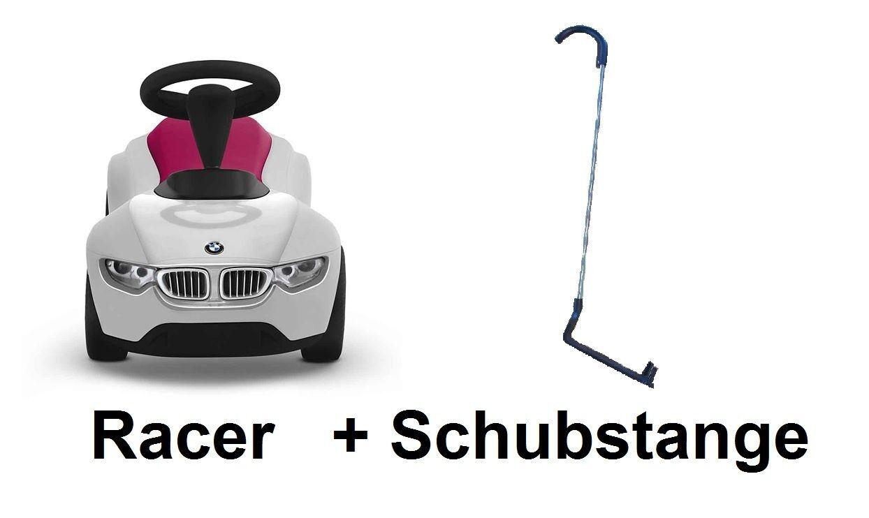 Original BMW Baby Racer III weiß Rosa Rutscherfahrzeug + Schubstange Schubstange Schubstange 4c796c