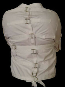 9e5e5b8d89 Image is loading Restraint-Strait-Straight-Jacket-White-XS-extra-small