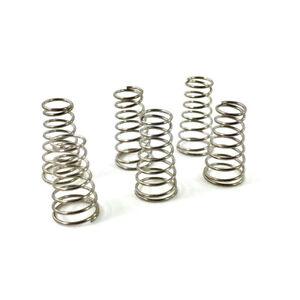 """(6) Nickel 1/2"""" Pickup Hauteur Springs For Single Coil Pickups Etc Scp-printemps-afficher Le Titre D'origine"""