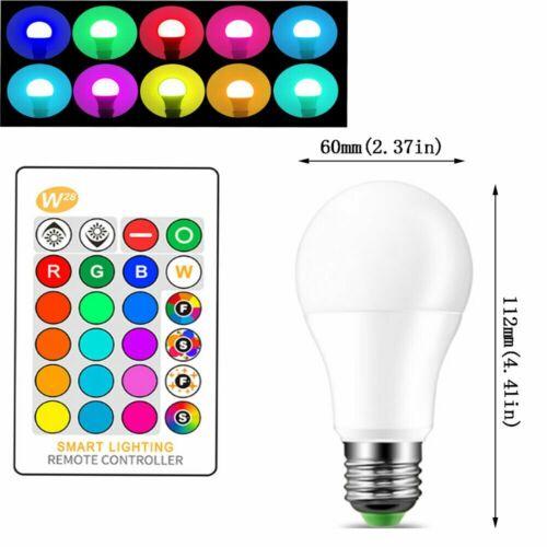 E27 B22 RGB RGBW LED Globe Lamp Colour Changing Light Bulb 24 Key IR Remote