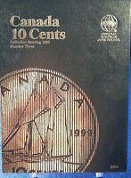 Whitman Canada 10 Cents Vol3 Starting 1990 Coin Folder, Album Book 3204