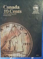 Whitman Canada 10 Cents Vol3 Starting 1990 Coin Folder, Album Book 3204