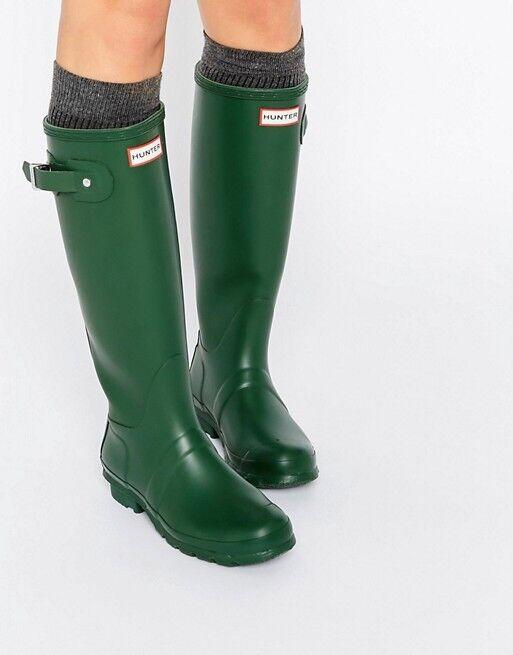 150 NEW Womens Hunter W23105 Original Tall Wellington Rubber Rainboots Sz 5