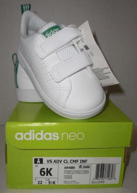 White//Green Toddler Adidas Kids/' VS Advantage clean Sneaker