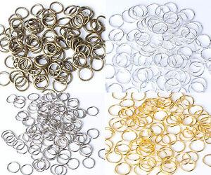 Vintage-Bronze-Gold-Platinum-amp-Silver-plated-Metal-JUMP-RINGS-5-6-7-8-9-10mm
