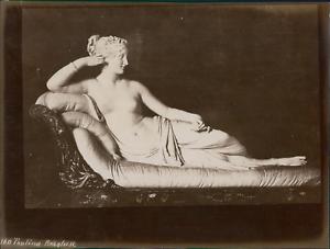 Italie-Paolina-Borghese-vintage-albumen-print-Tirage-albumine-20x25-C