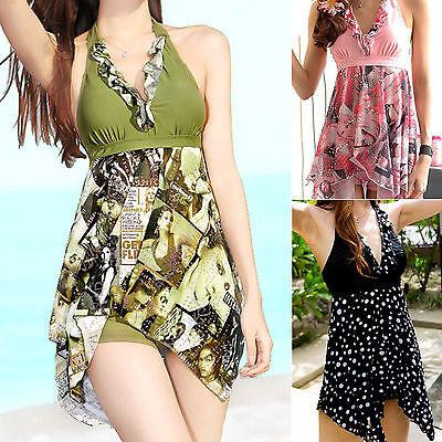 Ladies Swimwear Two Piece Swimdress Tankini Aus Size 8 10 12 14 16 18 #1133