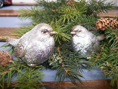 "RAZ Imports~7.5/"" WINTER SNOW BIRDS~Set 2~White//Christmas~Ornament//Tree//Wreath"
