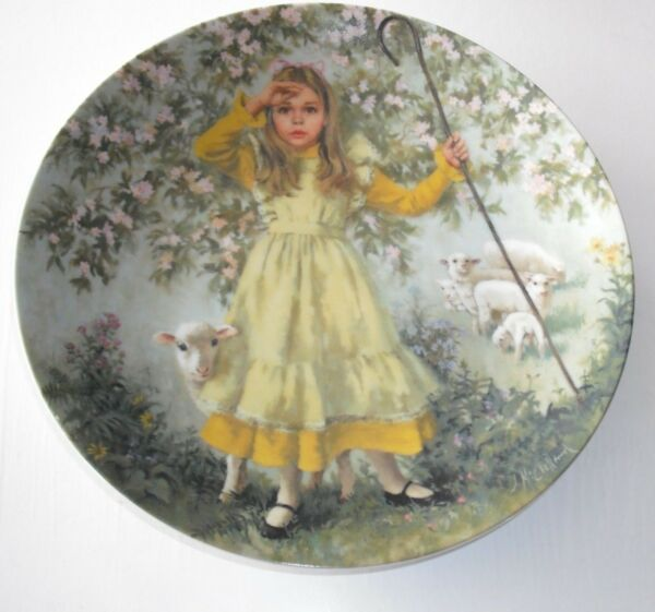 """reco"" Little Bo Peep"" Limited Edition Plate Mother Goose Series John Mcclelland"