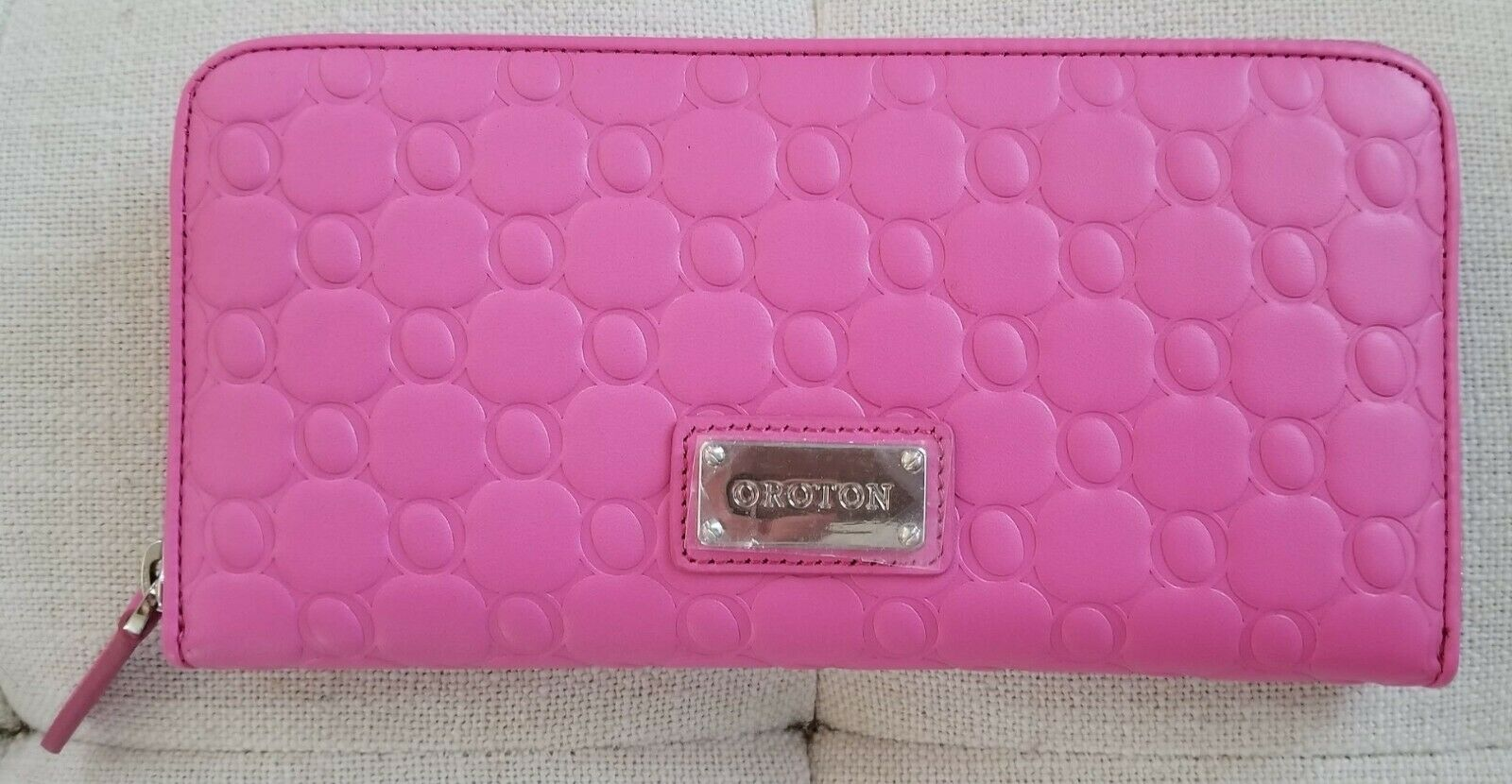 NEW! Oroton Roche Large Multi Pocket Leather Wallet Classic Pink