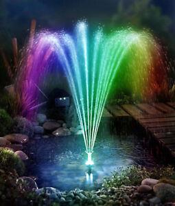 Led Fontaine Pompe Solaire avec Batterie Étang de Jardin Bassin | eBay