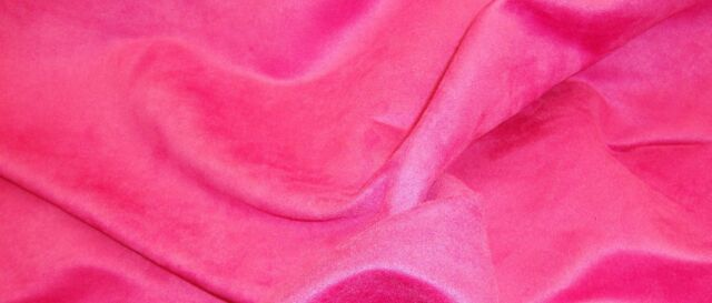 FUSHIA UPHOLSTERY MICRO SUEDE FABRIC BY THE YARD