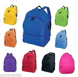 CENTRIX-TREND-SCHOOL-BACKPACK-PUCKSACK-BAG-11-COLOURS