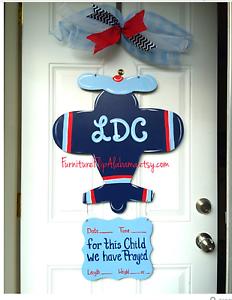 birth announcement door hanger