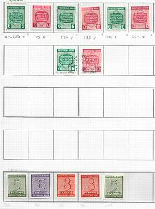 West Sachsen stamps 1945 Specialised collection MI 116-125 ATTRACTIVE!