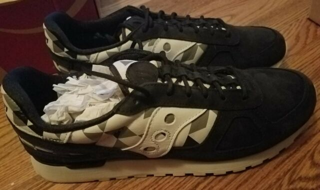 lowest price edd3c ed64f SAUCONY SHADOW ORIGINAL SCHOOL SPIRIT BLACK MENS SIZE 13 RUNNING shoes  S70305-2