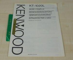 Kenwood KT-1020L original Bedienungsanleitung (mehrsprachig, auch in Deutsch)