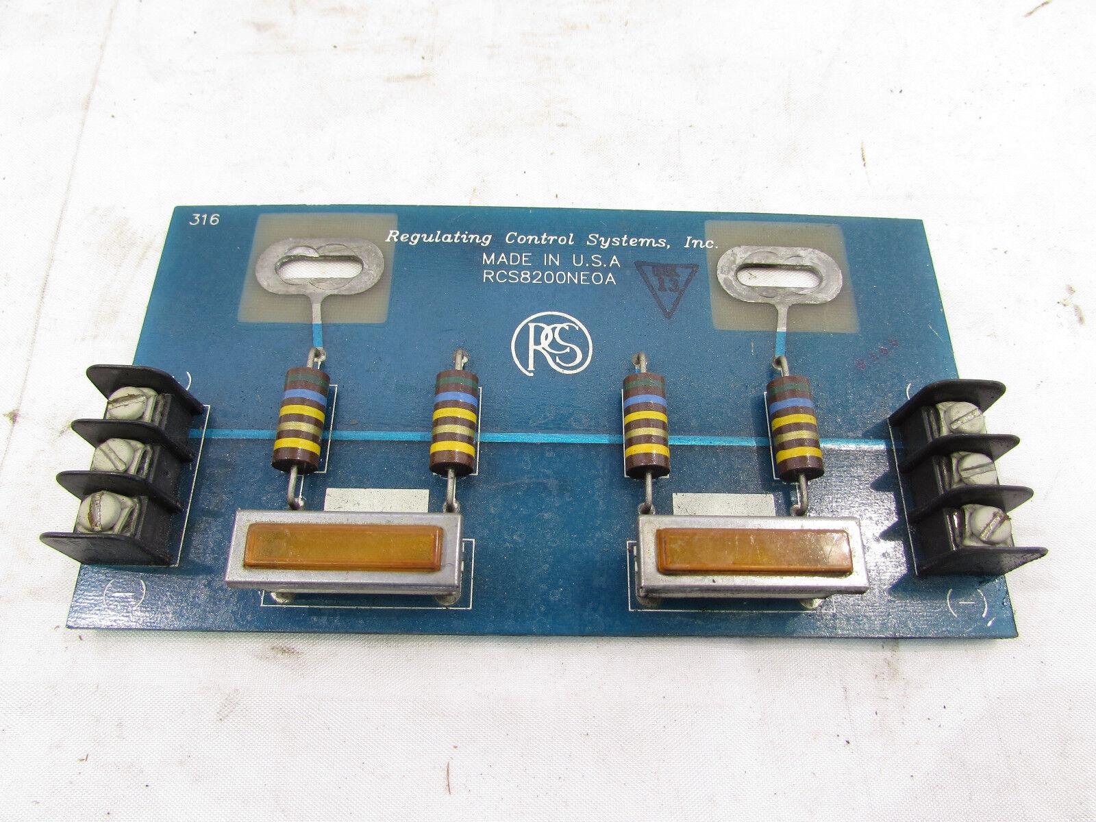 REGULATING CONTROL SYSTEMS RCS8200NE0A BOARD XLNT