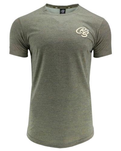 CROSSHATCH Herren T-Shirt KARRINGTON TEE 3D EMBR Oberteil Top kurzarm meliert