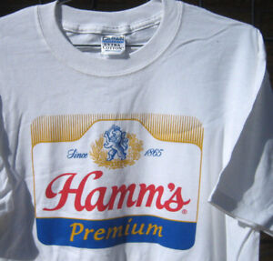 ef462b9b72 New (M) (L) (XL) HAMMS Miller lite HAMM S Label BEER T Shirt retro ...