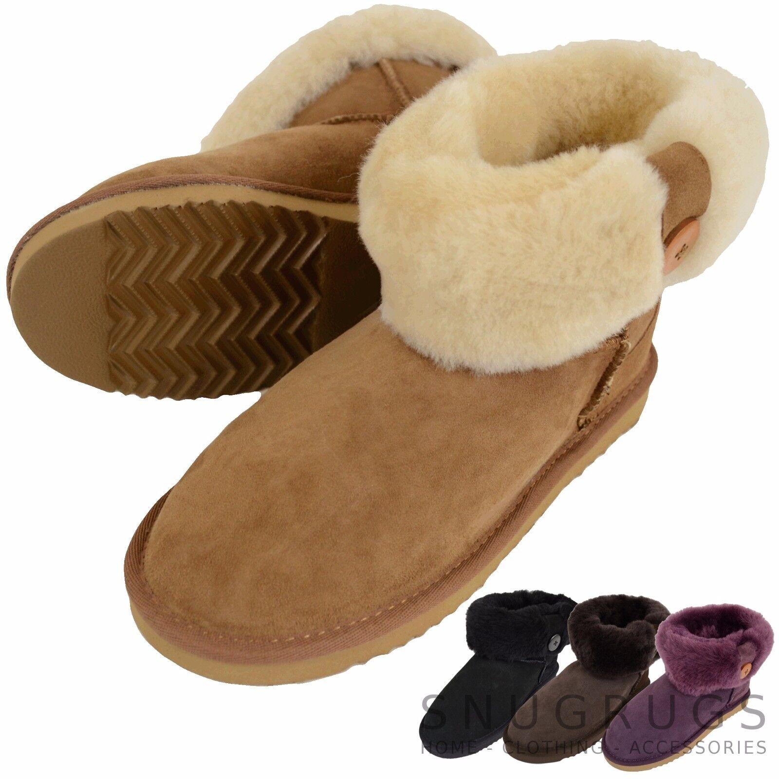 Damen / für Stiefel Damen, volle Schafspelz wadenlang Down Shorts Stiefel für KNOPF DESIGN 48dba8