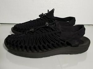 KEEN-Outdoor-1014097-Men-039-s-UNEEK-M-Black-Nylon-Cord-Trail-Hiking-Sandals-SZ-10