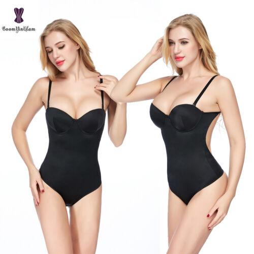 Women Sleeveless Bodysuit Corset Black Tummy Control Body Briefer Shapewear